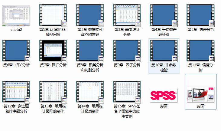 spss数据分析从入门到精通视频课程免费下载(15讲完整版)